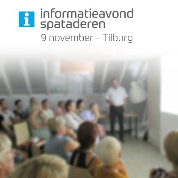 Informatieavond over spataderen in Tilburg